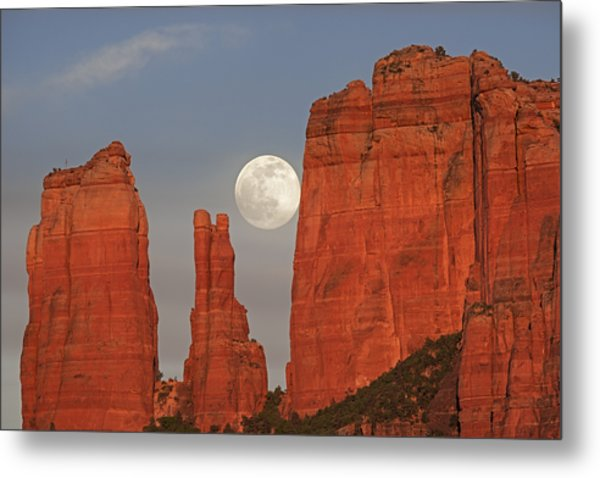 Full Moon In The Cathedral Metal Print