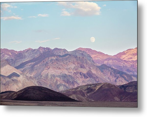 Full Moon Over Artists Palette Metal Print