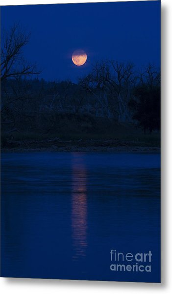 Full Moon Over The Tongue Metal Print