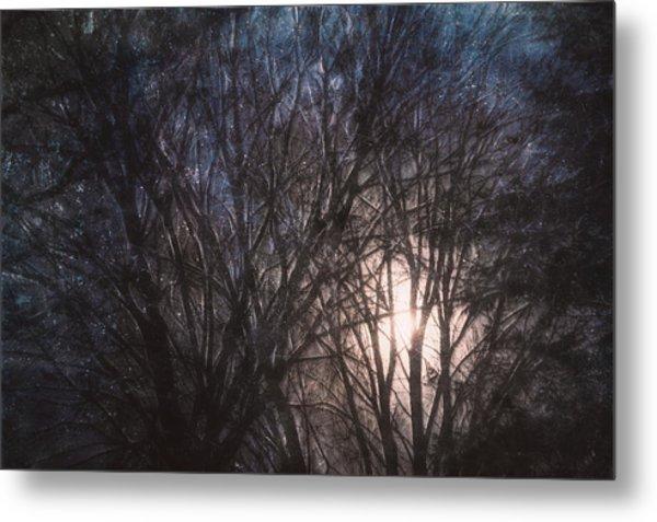 Full Moon Rising Metal Print