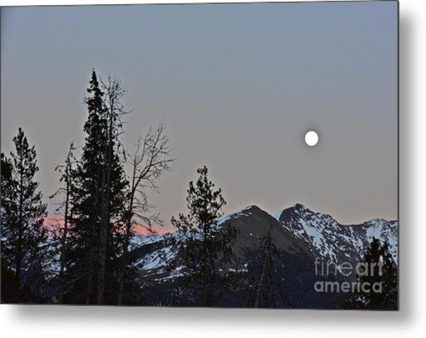 Full Moon Shinning Down Metal Print