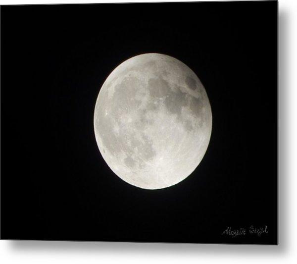 Full Planet Moon Metal Print