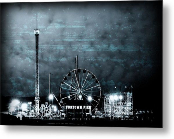 Fun In The Dark - Jersey Shore Metal Print