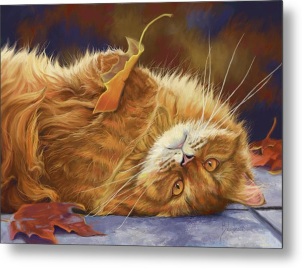 Fun In The Fall Metal Print
