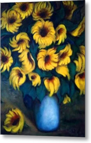 Fun Sun Flowers Metal Print