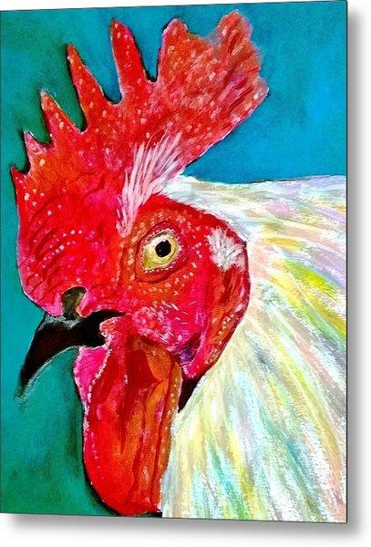 Funky Rooster Metal Print