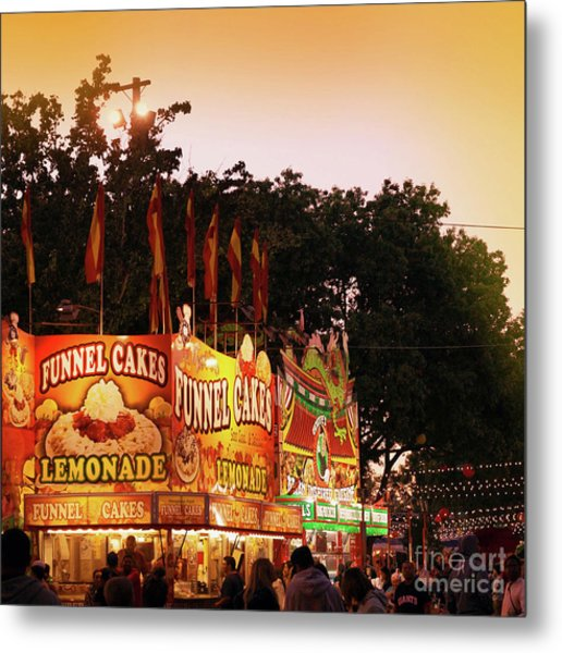 Metal Print featuring the photograph Funnel Cakes by Cindy Garber Iverson