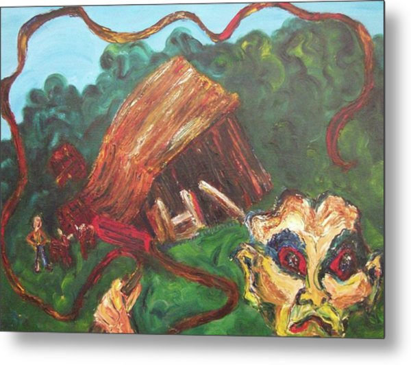 Furious Father Metal Print by Suzanne  Marie Leclair