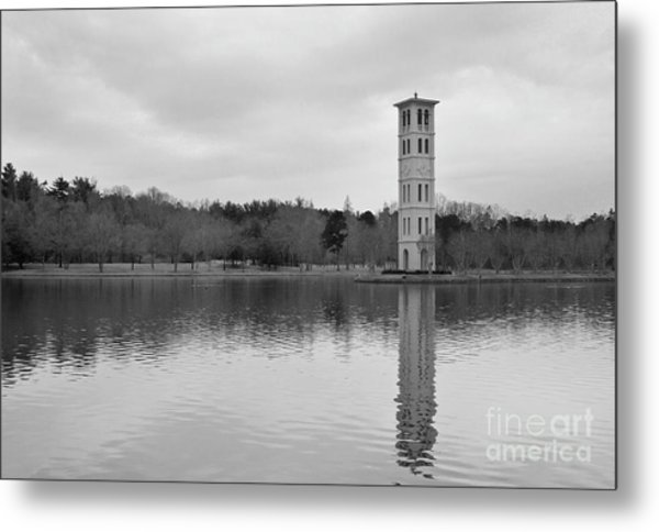 Furman Bell Tower 4 Bw Metal Print