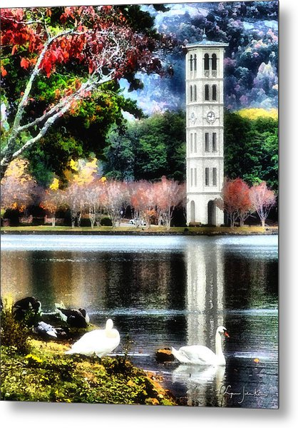 Furman University Bell Tower Metal Print