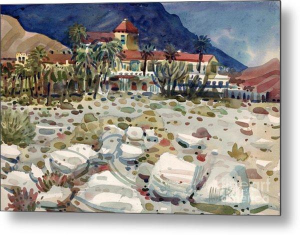 Furnace Creek Inn In Death Valley Metal Print