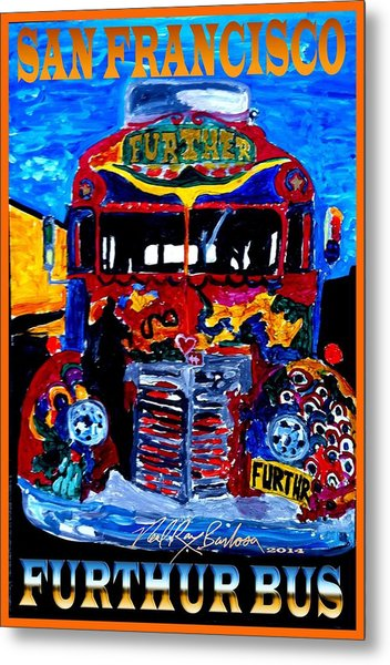 50th Anniversary Further Bus Tour Metal Print