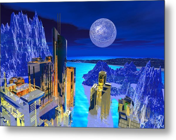 Futuristic City Metal Print