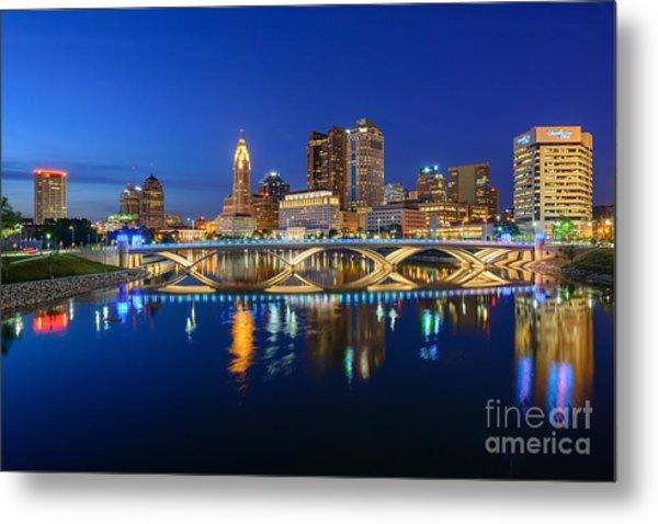Fx2l531 Columbus Ohio Skyline Photo Metal Print