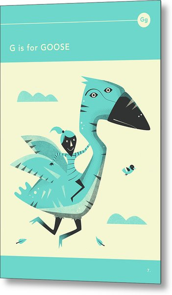 G Is For Goose Metal Print