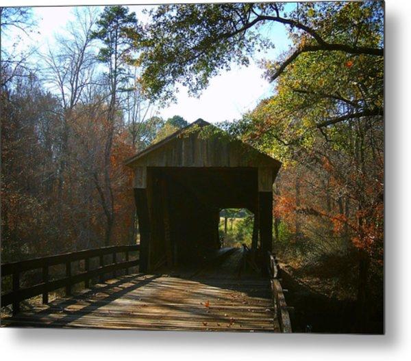 Ga. Covered Bridge Metal Print by Navarre Photos