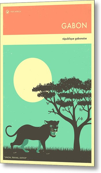 Gabon Travel Poster Metal Print