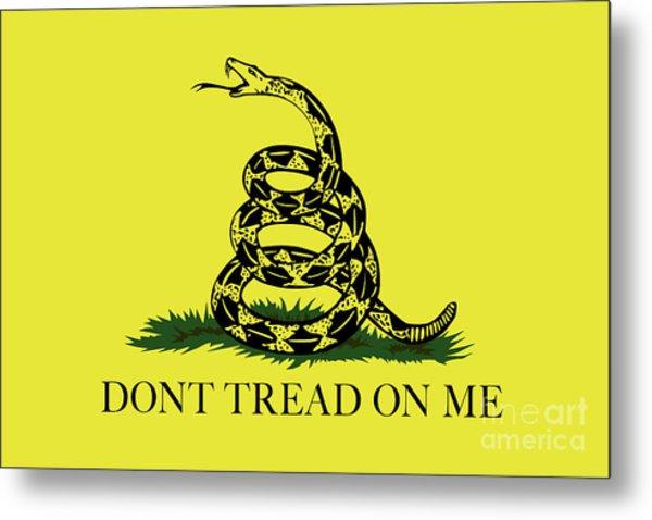 Gadsden Dont Tread On Me Flag Authentic Version Metal Print