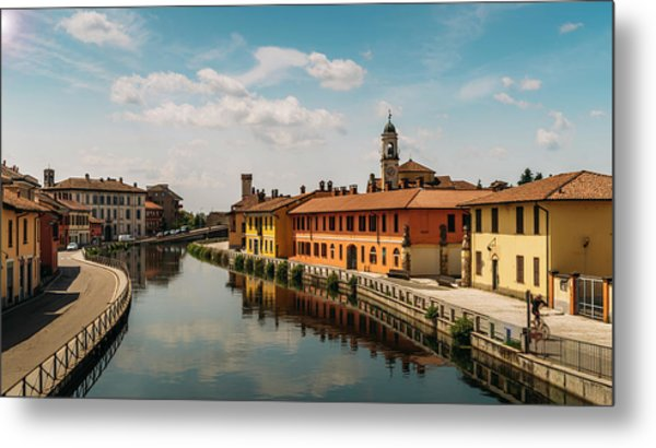 Gaggiano On The Naviglio Grande Canal, Italy Metal Print