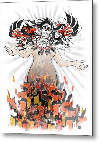 Gaia In Turmoil Metal Print