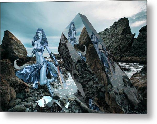 Galactic Mermaid Metal Print