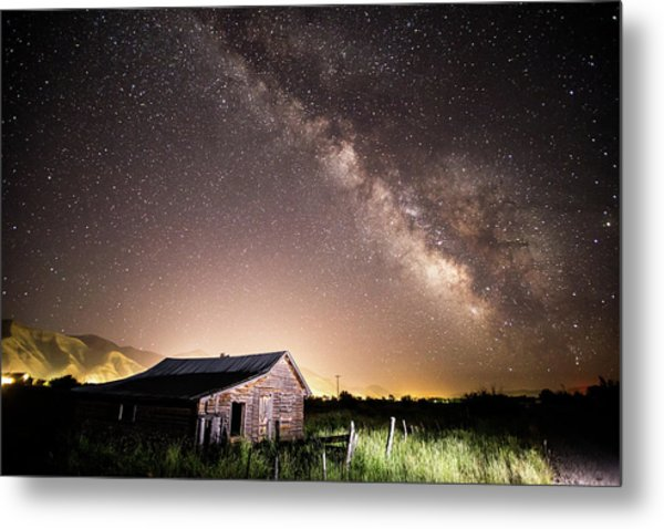 Galaxy In Star Valley Metal Print