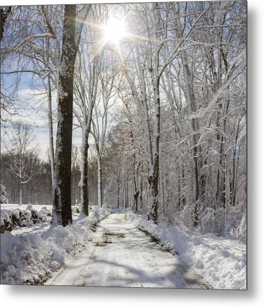 Gales Ferry Winter Wonderland Metal Print