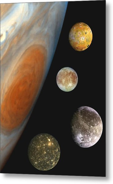 Galilean Moons Of Jupiter Metal Print