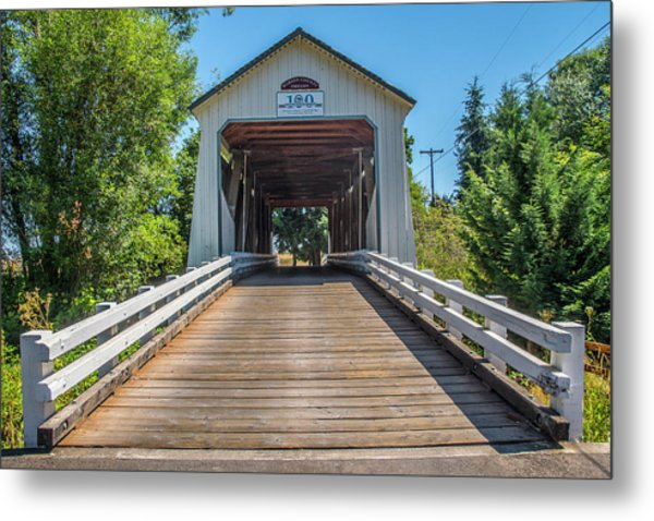 Gallon House Covered Bridge Metal Print