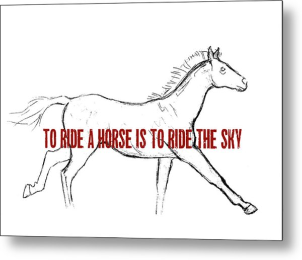 Gallop Quote Metal Print by JAMART Photography
