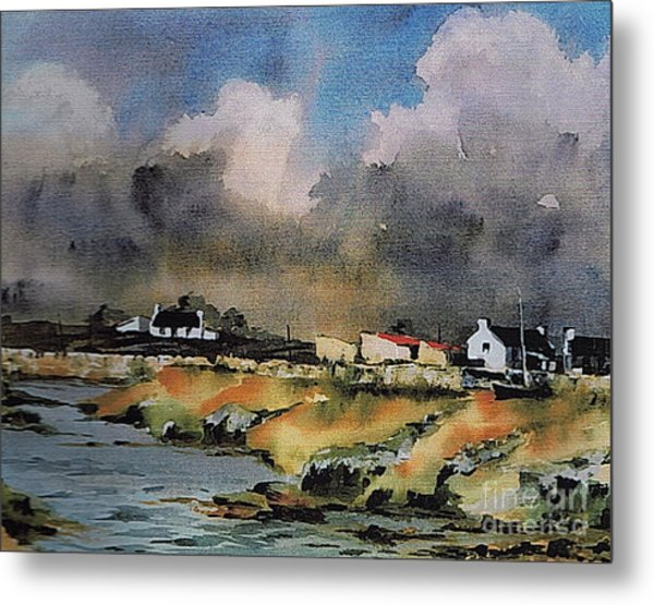 Galway...storm Clouds Over Sruthan Metal Print