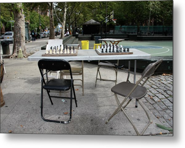 Game Of Chess Anyone Metal Print
