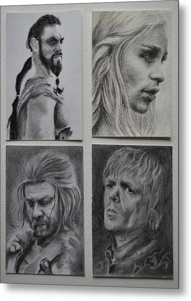 Game Of Thrones Group Metal Print