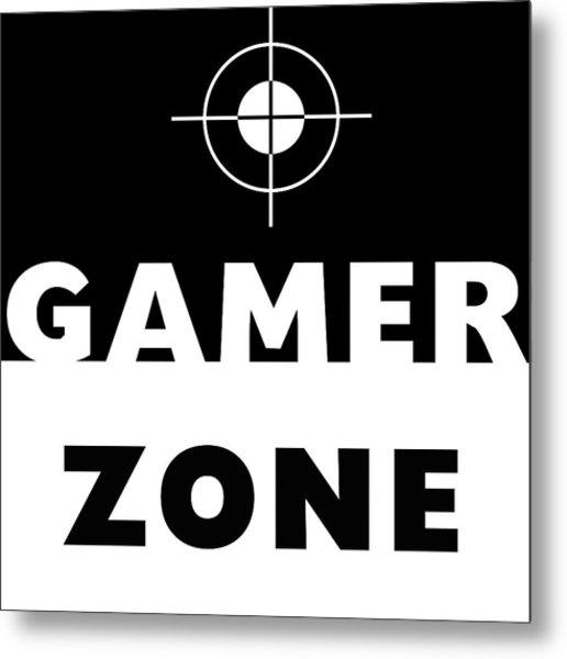 Gamer Zone- Art By Linda Woods Metal Print