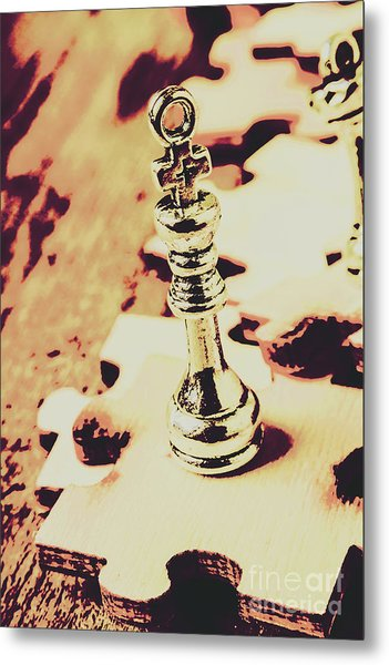 Games And Puzzles Metal Print