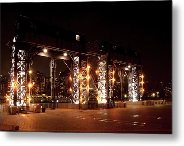 Gantry Nights Metal Print