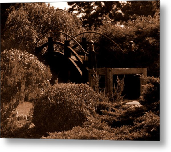Garden Bridge Metal Print by Audrey Venute