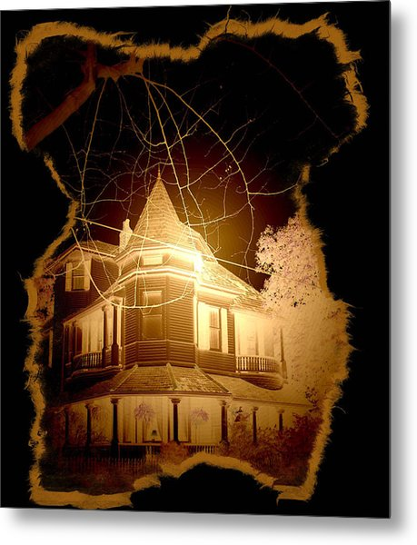 Garden District Glowing Metal Print by Linda Kish