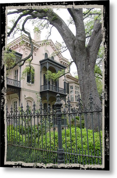 Garden District House Metal Print by Linda Kish
