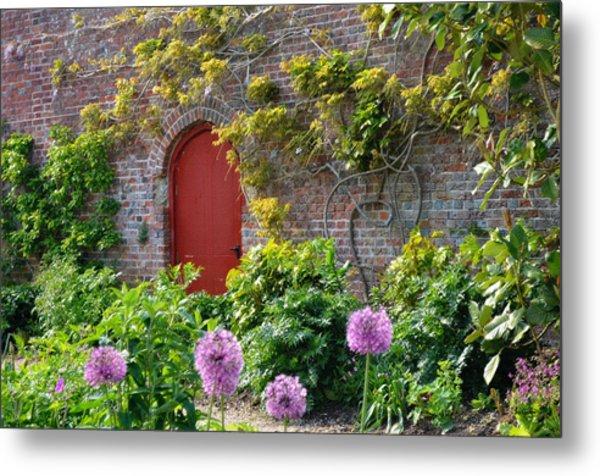 Garden Door - Paint With Canvas Texture Metal Print