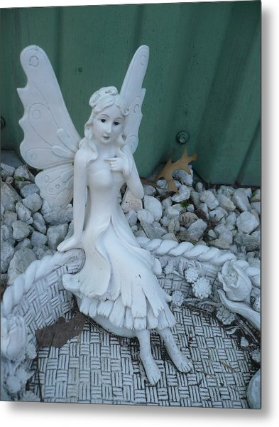 Garden Fairy Metal Print by Stephen Davis