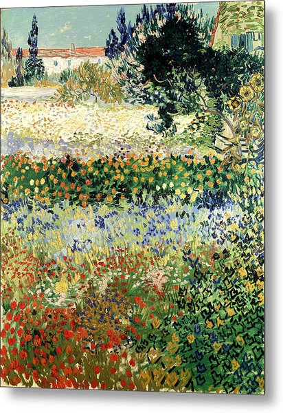 Metal Print featuring the painting Garden In Bloom by Van Gogh