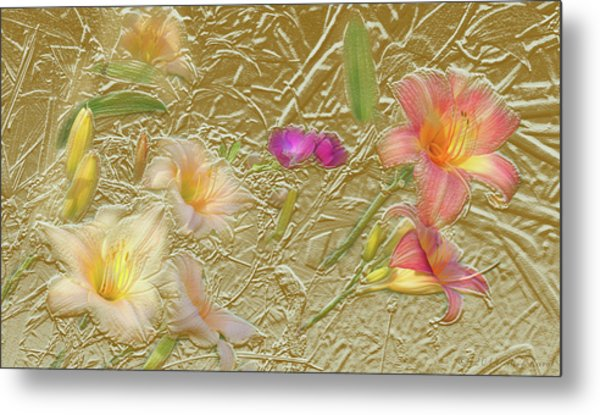 Garden In Gold Leaf2 Metal Print