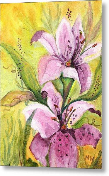 Garden Lilies Metal Print