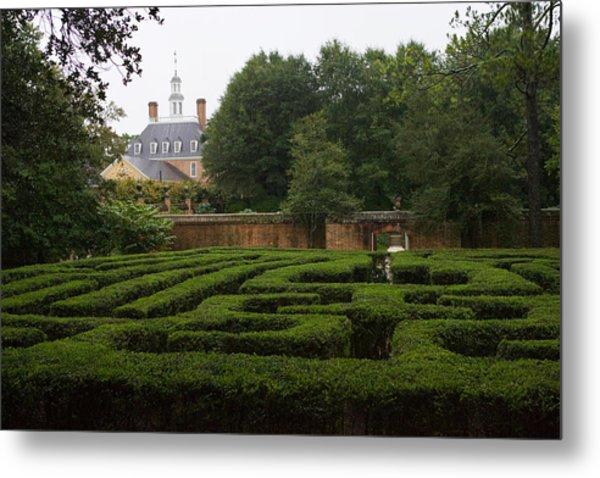 Garden Maze At Governors Palace Metal Print