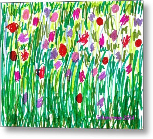 Garden Of Flowers Metal Print