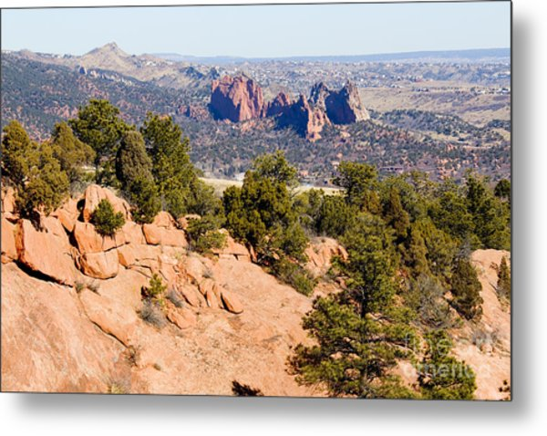 Garden Of The Gods And Springs West Side Metal Print