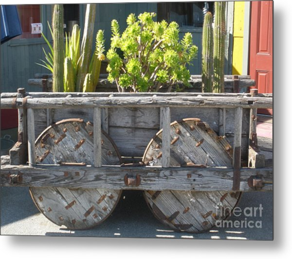 Garden On Wheels Metal Print