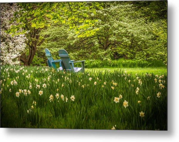 Garden Seats Metal Print