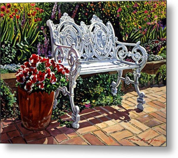 Garden Sitting Place Metal Print by David Lloyd Glover